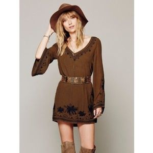 Free people sky fall embroidered dress