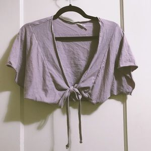 Urban Outfitters Lavender Crop Wrap