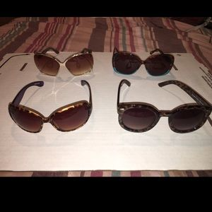 Iot of 4 brown sunglasses oversized