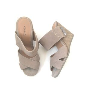 Kelsi Dagger Morten Suede Leather Wedge Sandals