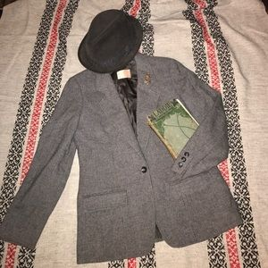 Pendleton Blazer jacket  USA wool gray S