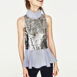 Zara contrast shirt