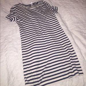 H&M sz S navy/white striped dress! (NEVER WORN)