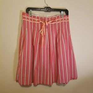 Old Navy coral knee length skirt