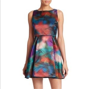 NWOT Alice + Olivia watercolor print dress size 2