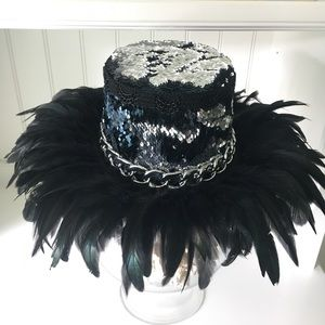 Twilight Feather Queen Top Hat