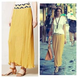 Anthropologie / dear creatures yellow Pleated Maxi