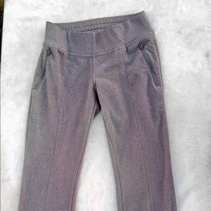 Columbia Fleece Pants Gray Zipper Pockets Medium