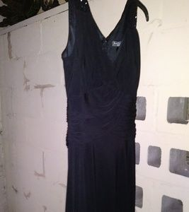 Women's Black Gathered Gown