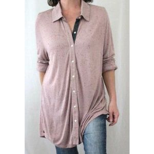 Soft Surroundings Pink Pill Speckled Tunic Top