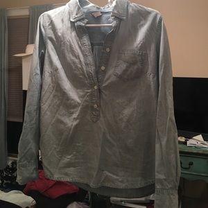 J.Crew denim chambray shirt