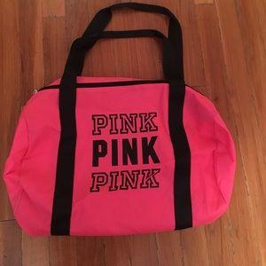 Victoria's Secret PINK neon Zip Duffel Bag