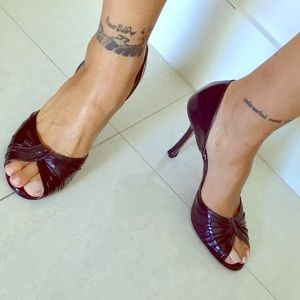 Jimmy Choo black leather sandals Authentic sz 6.5