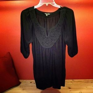 Forever 21 lace, black blouse