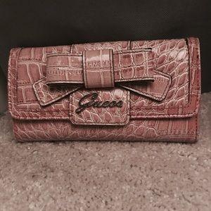 GUESS blush pink wallet