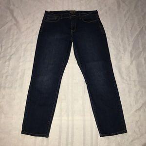 Lucky Brand stretchy Sofia Capri blue jeans sz 12