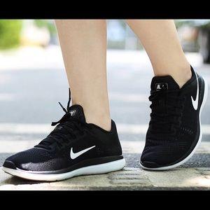 Women's Nike Flex 2016 RN Running Shoes Black/Cool
