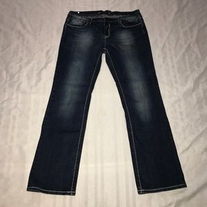 Vigoss bootcut stretch flap pocket jeans sz 13 14