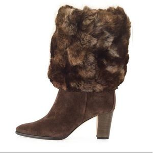 Chocolate Brown Faux Fur Boot Cuff