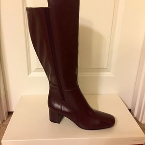 New - Wide Calf Deep Cherry Red Boots