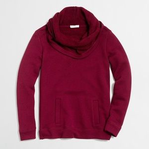 J.crew / funnel neck sweatshirt NWT