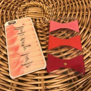 Bundle of 2 Kate Spade IPhone 6 phone cases!
