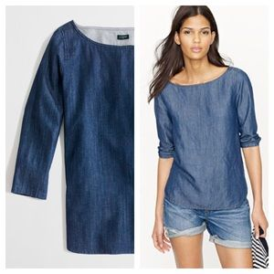 J.crew / chambray boat neck top