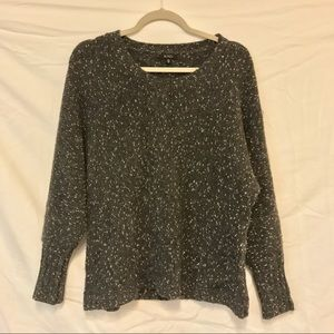XOXO Gray Sweater with White and Metallic Specks