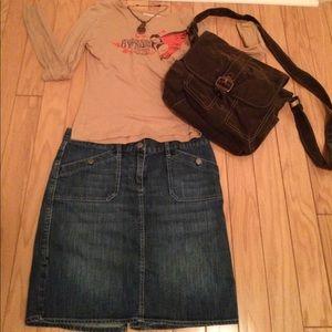 New York & Company Blue jean Skirt.