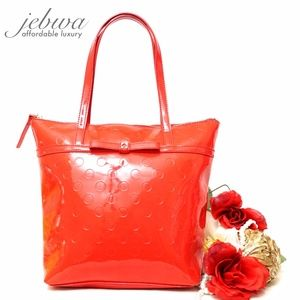 KATE SPADE RED SMALL LEATHER SHOULDER BAG