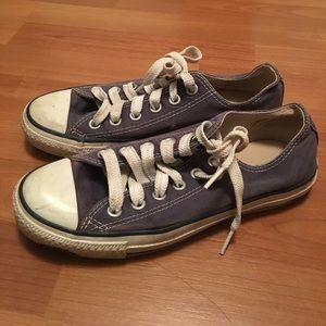 Faded navy blue converse