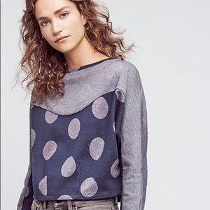 Anthropologie / Metallic dot sweatshirt postmark