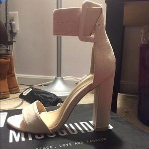 Nude Block Heel