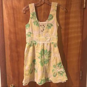 Free People Sunwashed Floral Mini Dress 4
