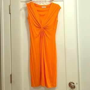 Orange Clavin Klein dress