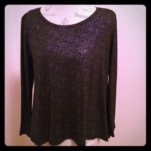 Dressy shimmering Black Blouse loose an flowy!
