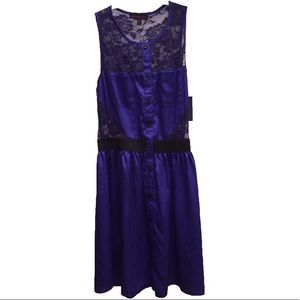 🆕 NWT Material Girl Blue Lace Dress