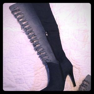 Ashley Stewart over the knee boots