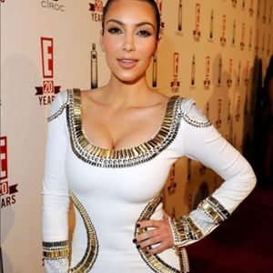 Kim Kardashian's Sass & Bide Embroidery Dress Sz 2