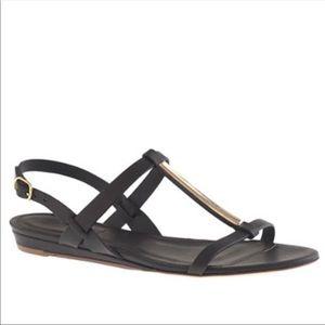 J.Crew T Strap Sandals