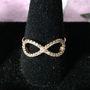 S.S. Infinity Rose Gold 8 Design W/Cubic Zirconia