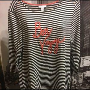 """Stripe shirt """"Bon Voyage"""""""