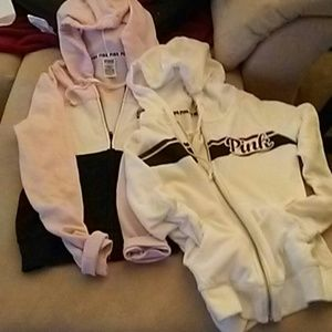 2 hoodies good condition, full zipper , love them.