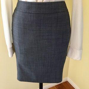 Ann Taylor petite pencil skirt wool blend fabric