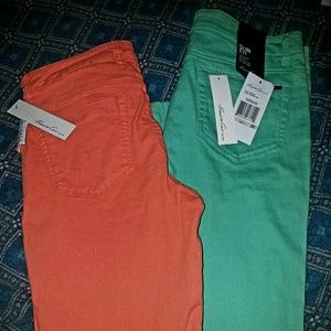 Lot of 2 pair  NWT sz 30 Kenneth Cole skinny jeans