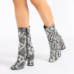 Public Desire x Raya Faux Snake Skin Heels