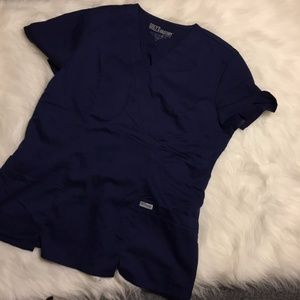 Grey's Anatomy Navy top Large