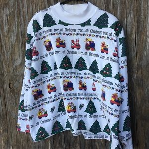 Vintage oversized cropped Christmas sweatshirt