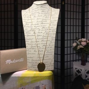 Madewell gold pendant necklace