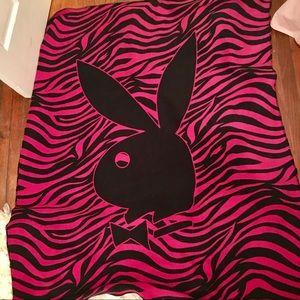 Pink Playboy Fleece Blanket
